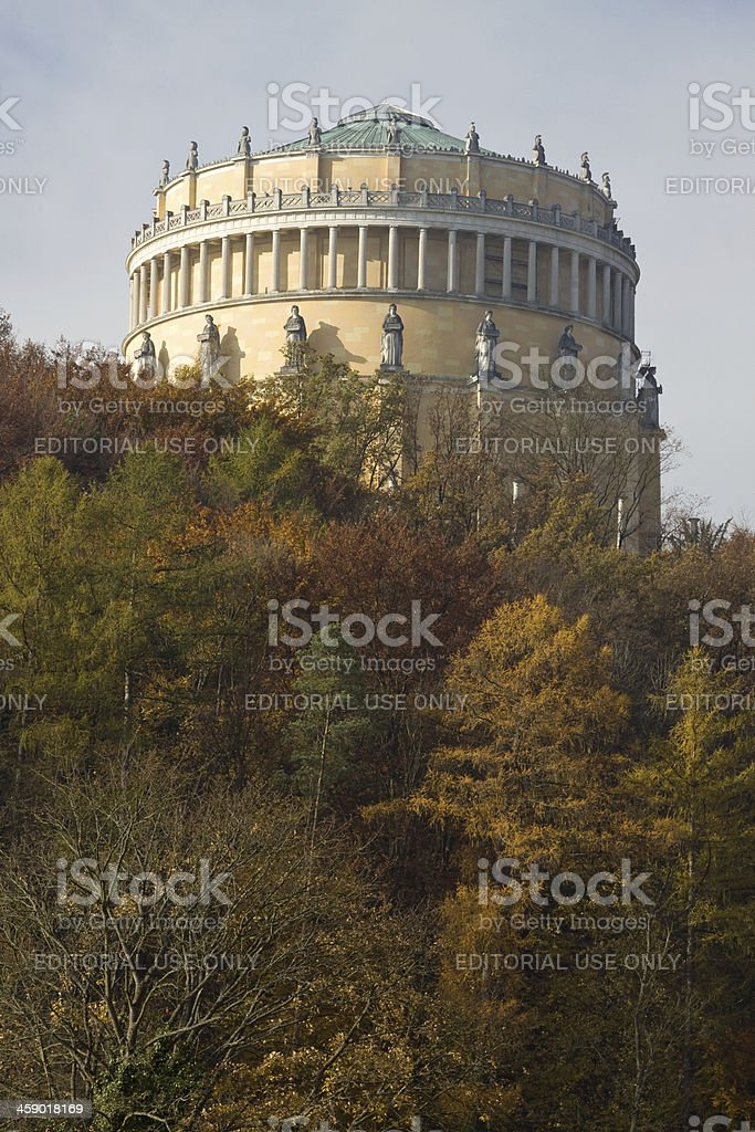 Fall at Befreiungshalle in Kelheim royalty-free stock photo