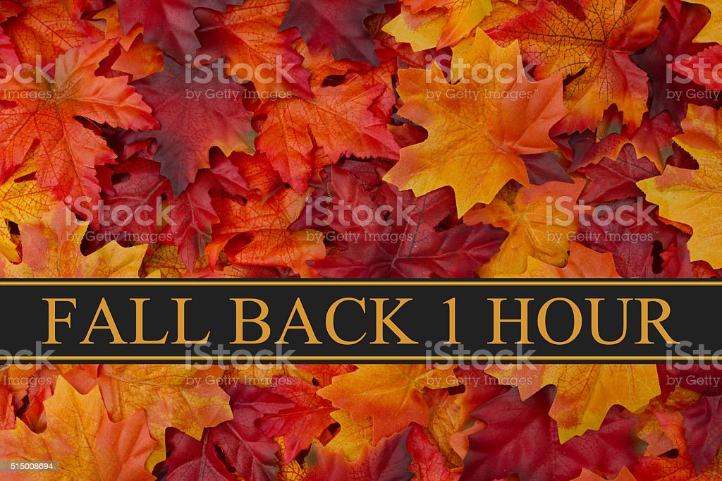 Fall Back Time Change Message stock photo