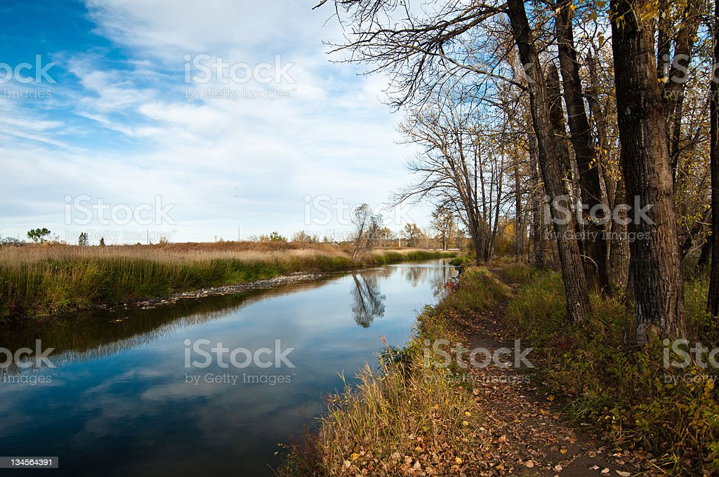 fall by the creek stock photo