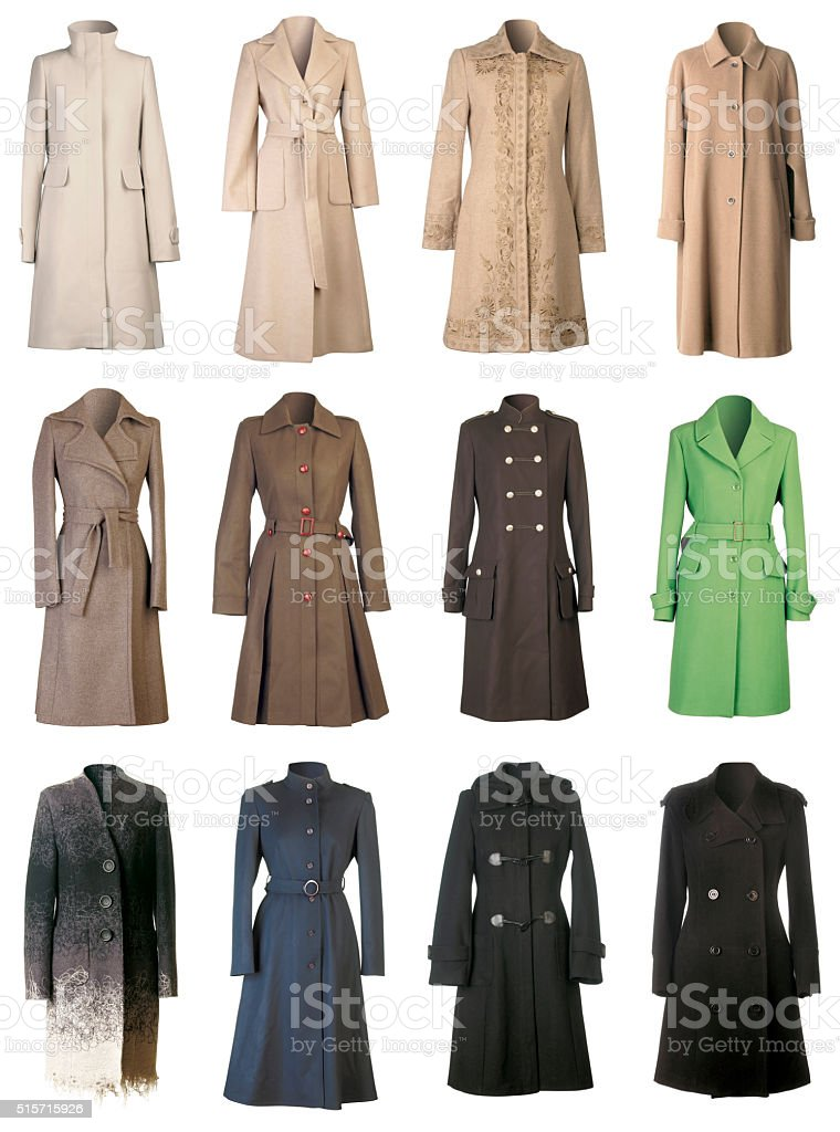 Fall Coats Cutout stock photo