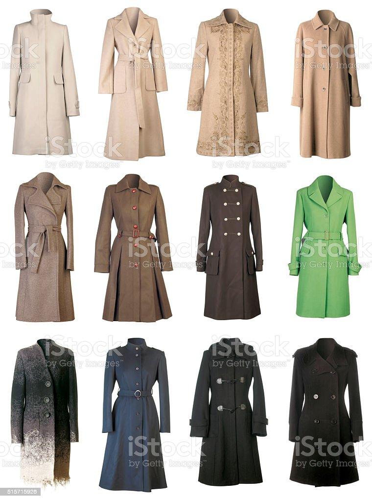 Fall Coats Cutout stock photo