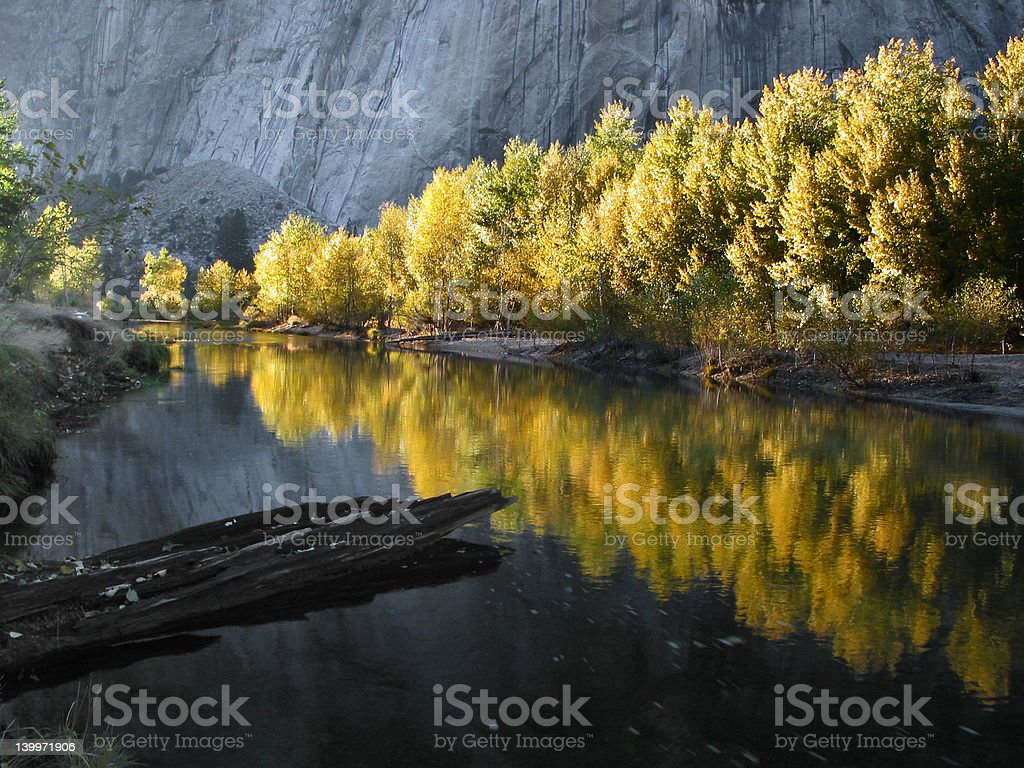 Fall color at Yosemite royalty-free stock photo