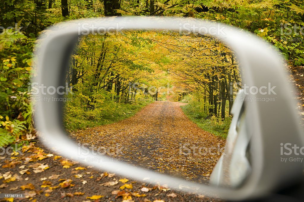 Fall color driving. royalty-free stock photo