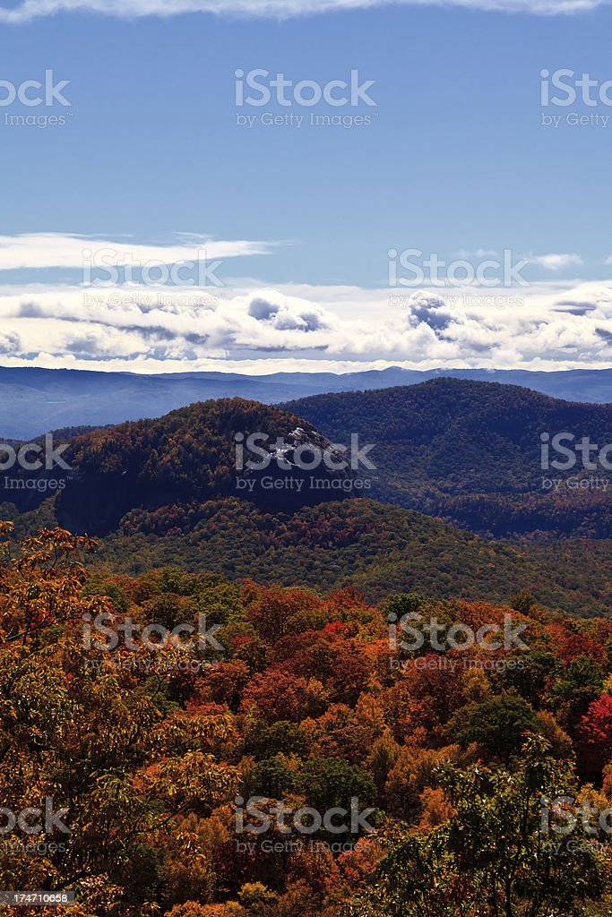 Fall Color in the NC Mountains stock photo