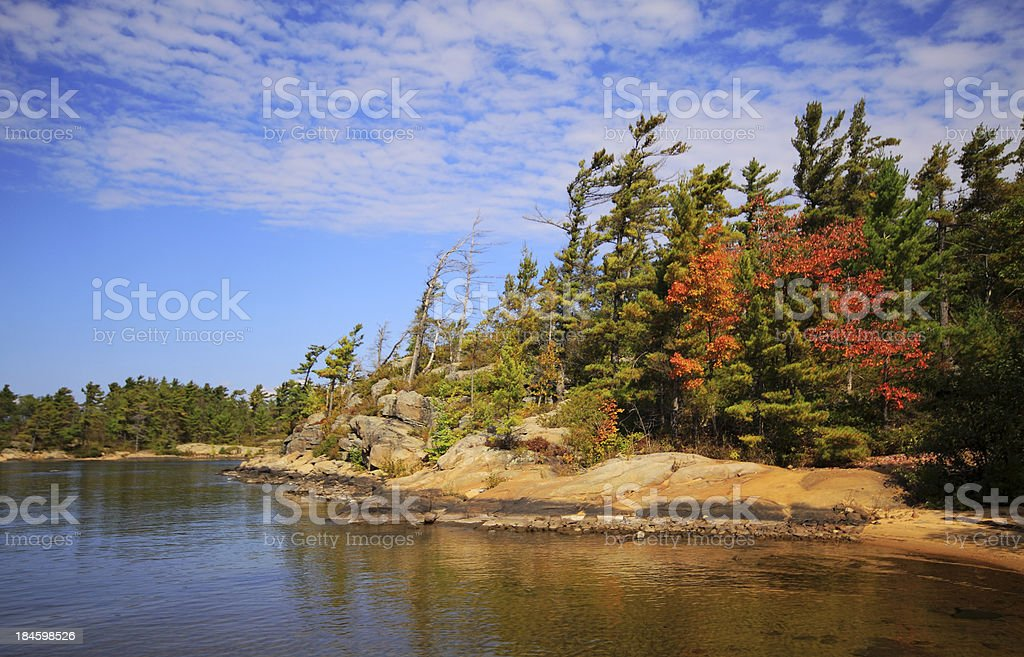 Fall Color Landscape stock photo