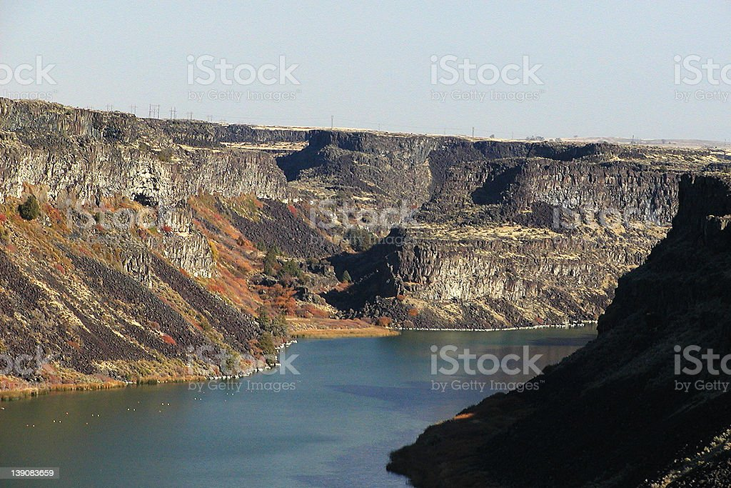 Fall Colors Along the Snake River royalty-free stock photo