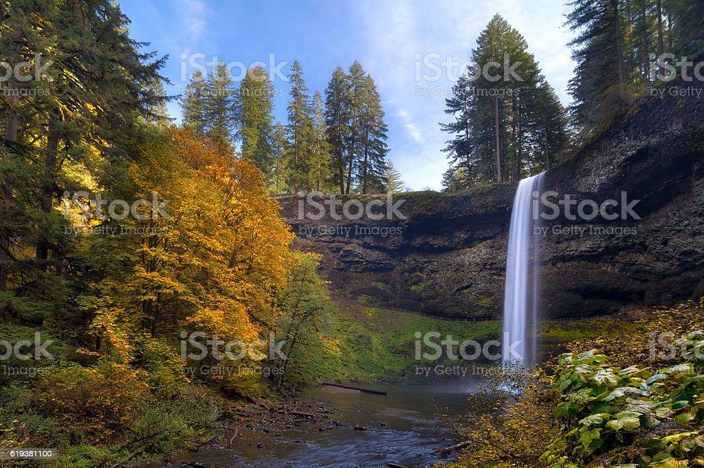 Fall Colors at South Falls stock photo