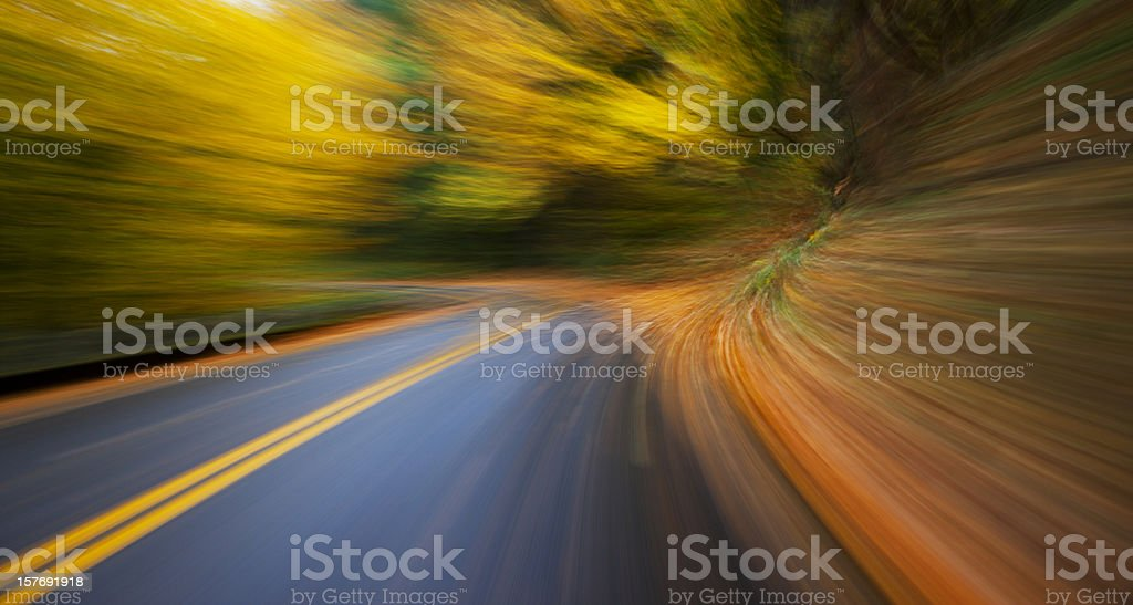 Fall Colors At Speed royalty-free stock photo