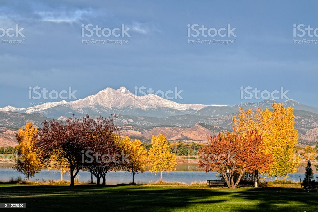 Fall Colors in Longmont stock photo