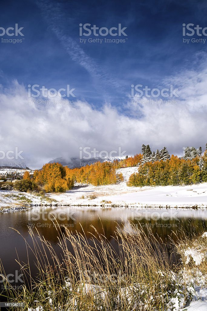 Fall Colors in the Rocky Mountains stock photo