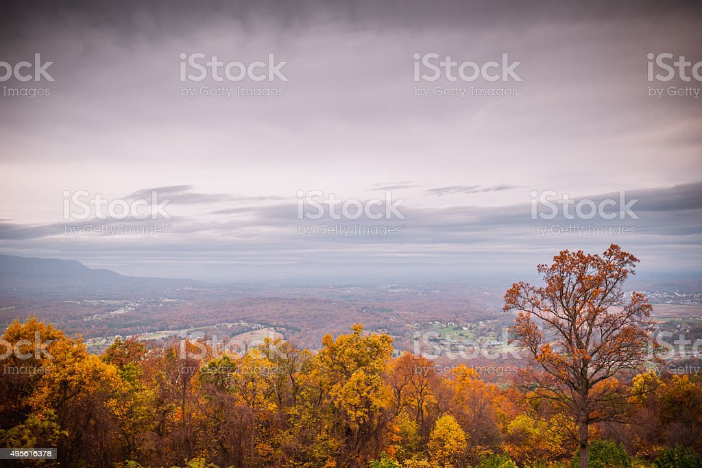 Fall Colors of Mountains 2 stock photo