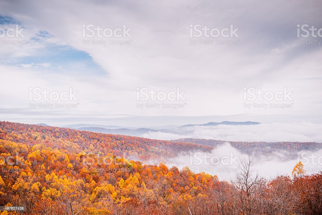 Fall Colors of Mountains 3 stock photo
