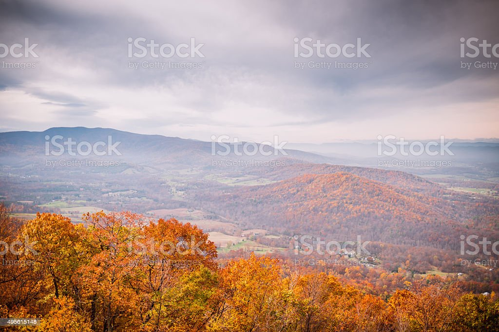Fall Colors of Mountains stock photo