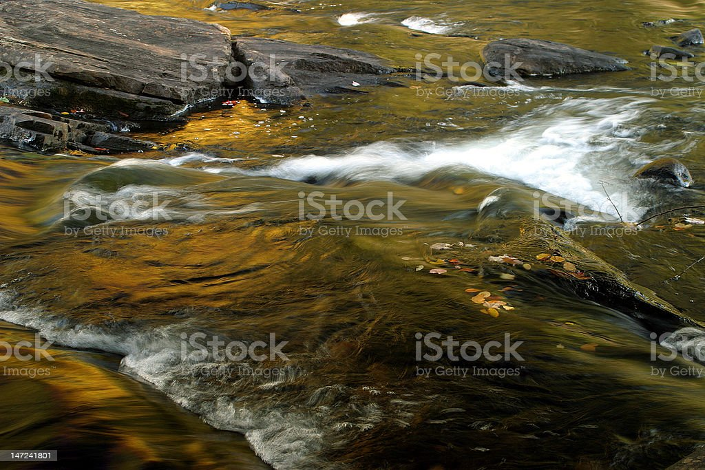 Fall Colors, Oxtongue Rapids stock photo