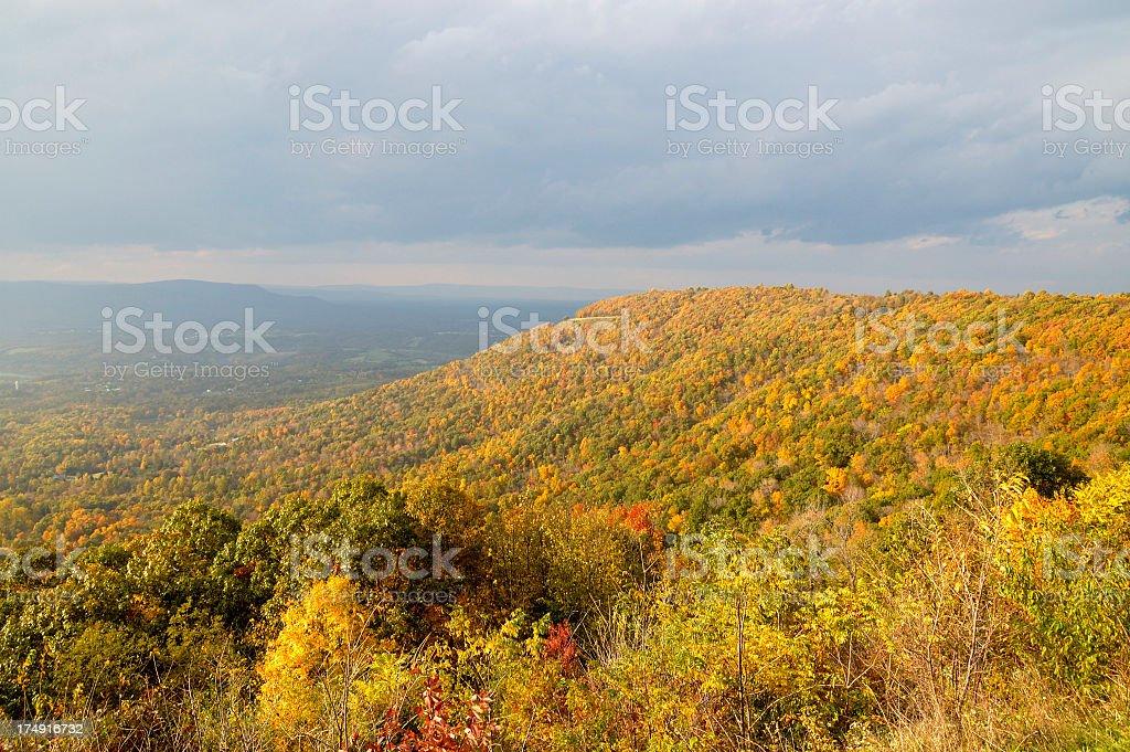 Fall colors - Skyline Drive stock photo