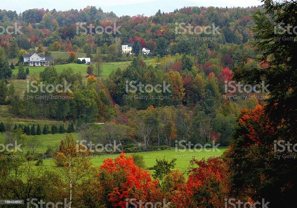 Fall country scene stock photo
