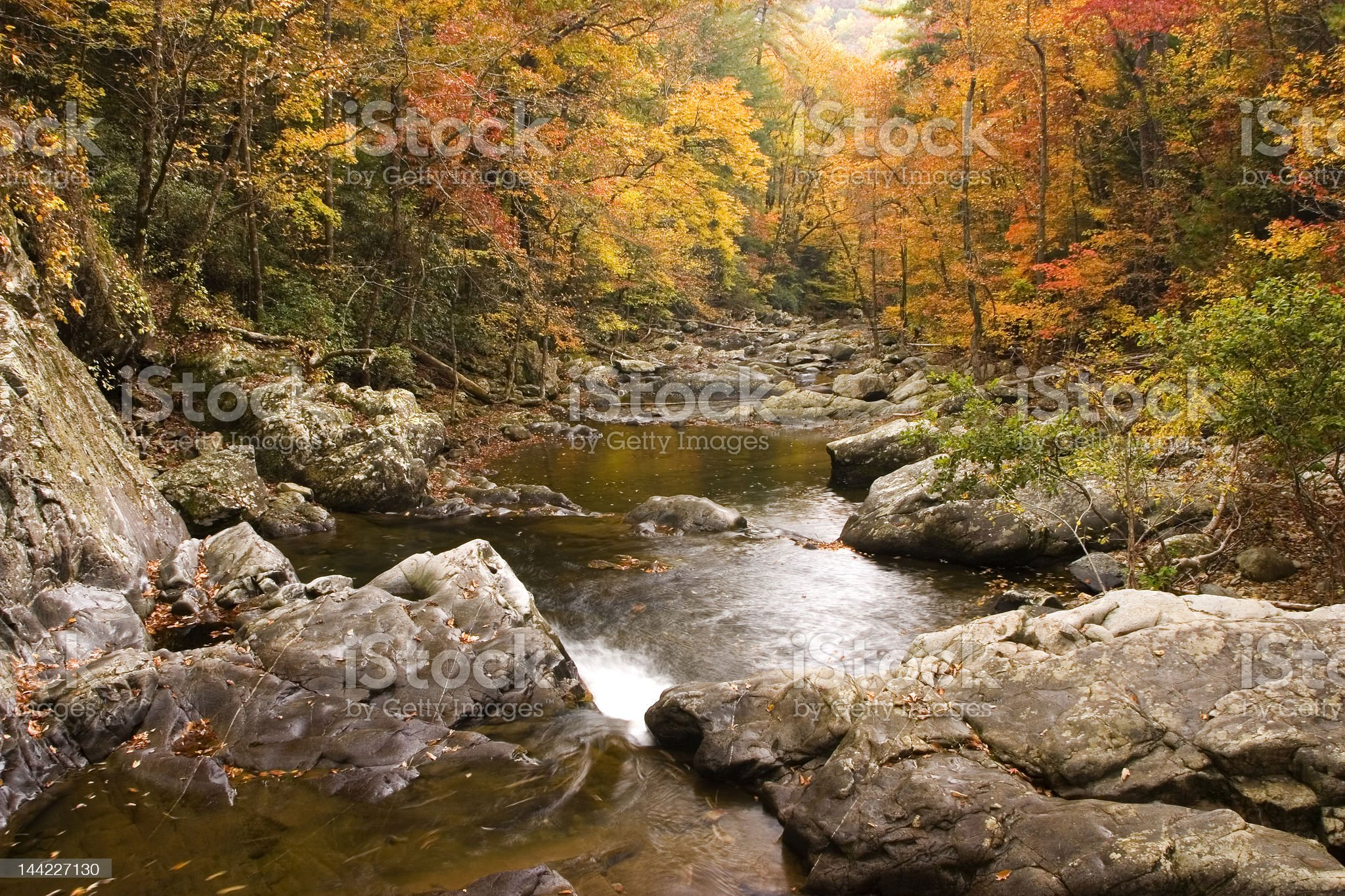 Fall Creek royalty-free stock photo