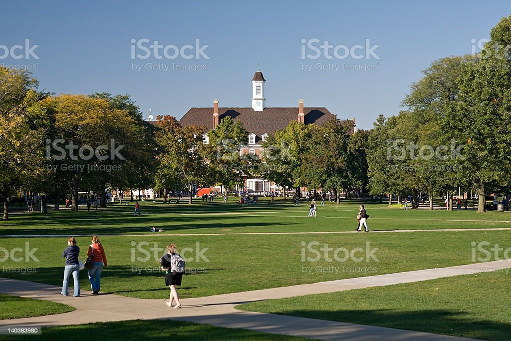 Fall Day on the Quad stock photo