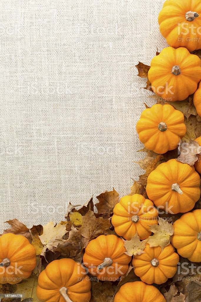 Fall Decorations Background stock photo