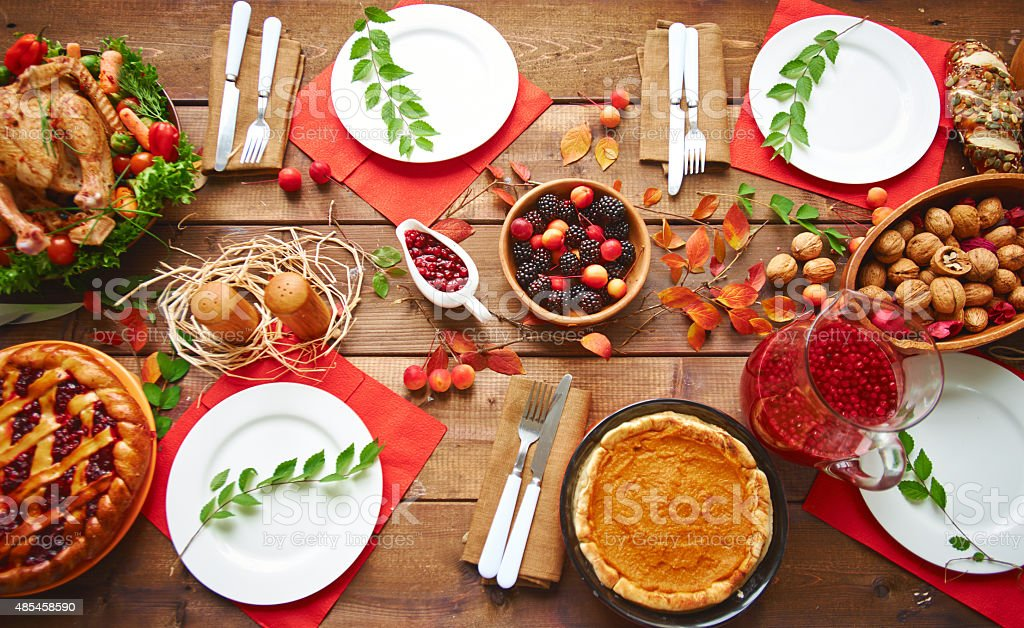 Fall dinner stock photo