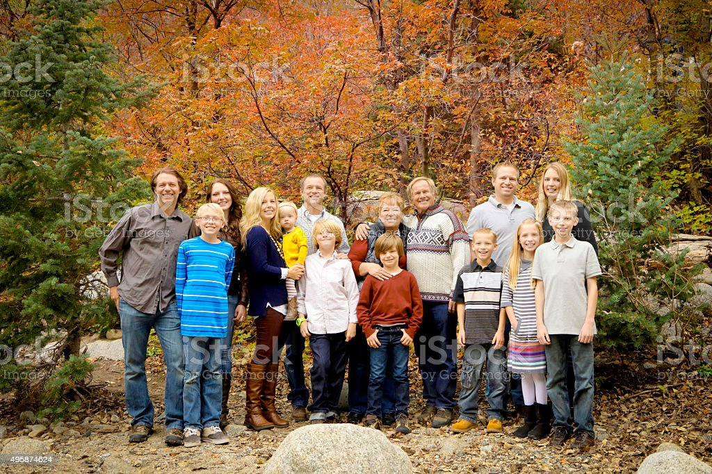 Fall Family Photograph stock photo