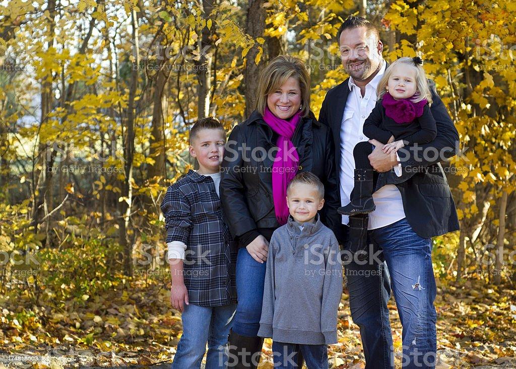 Fall family portrait royalty-free stock photo