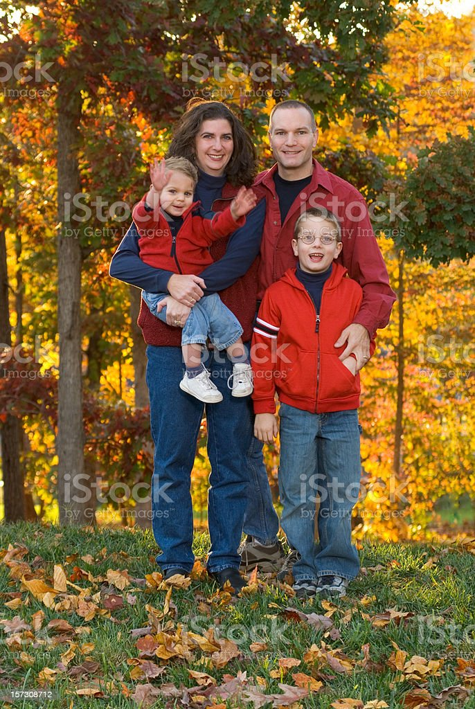 Fall Family Portrait Standing royalty-free stock photo
