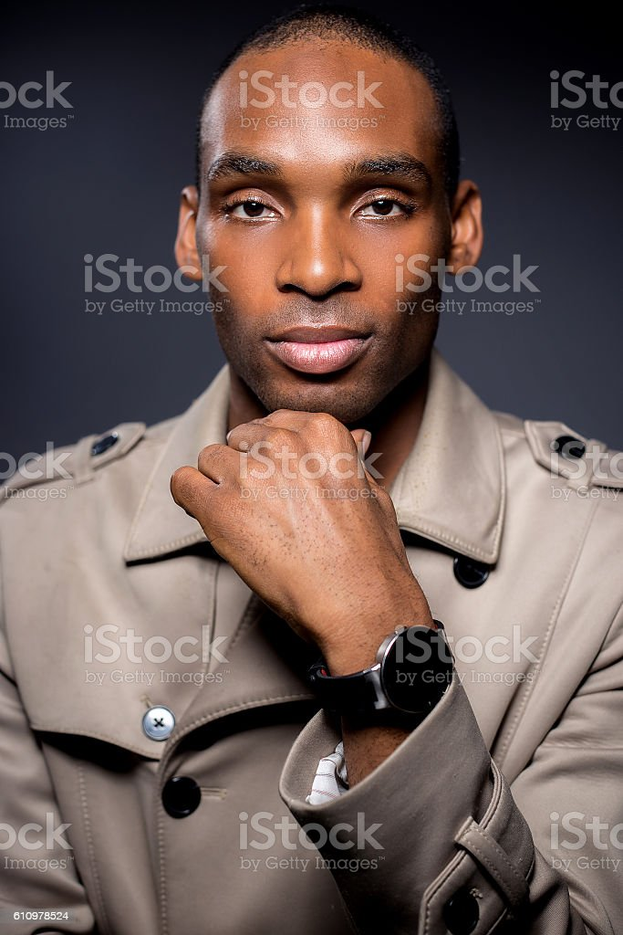 Fall fashion with wearable tech smartwatch stock photo