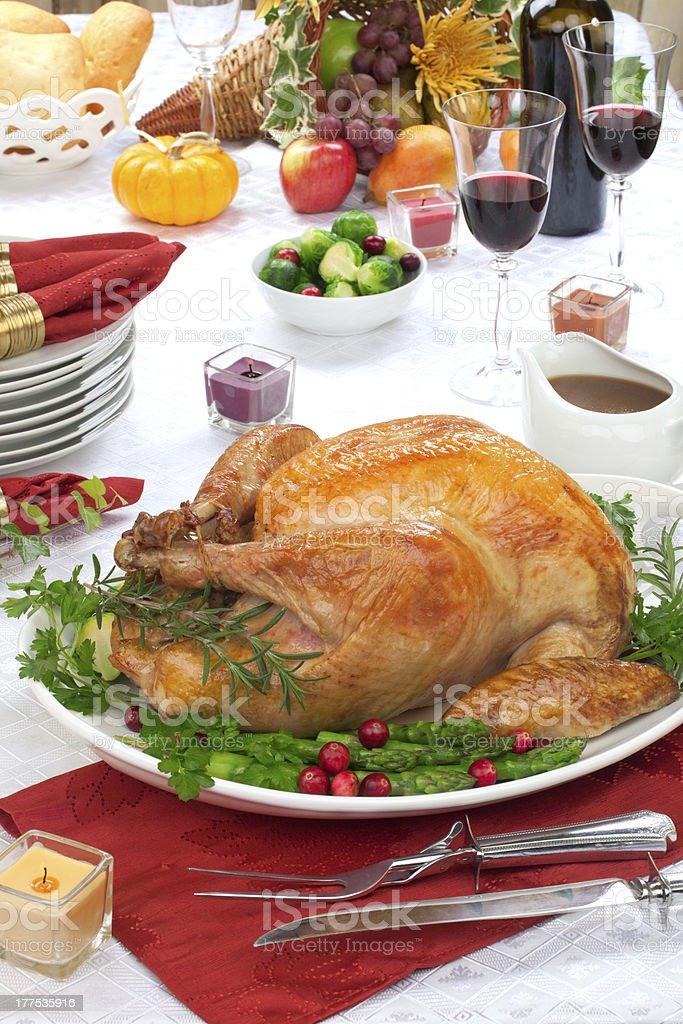 Fall festival roast turkey royalty-free stock photo