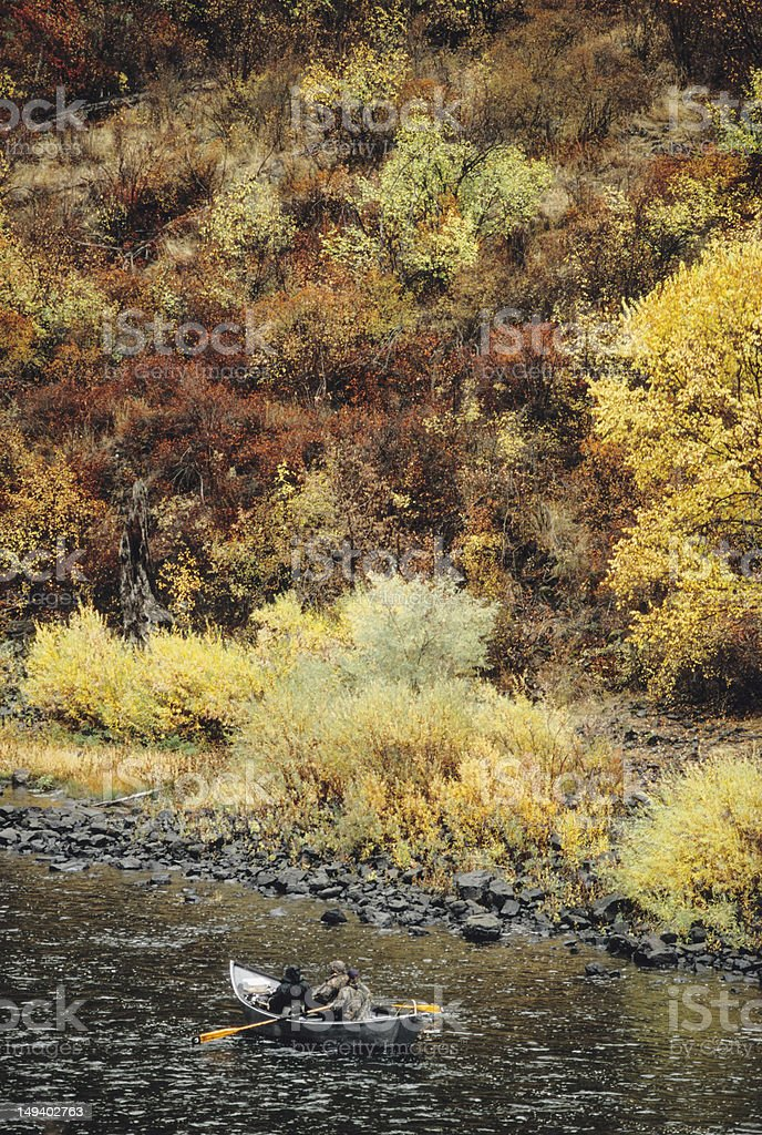 Fall Fishing On The Grande Ronde royalty-free stock photo
