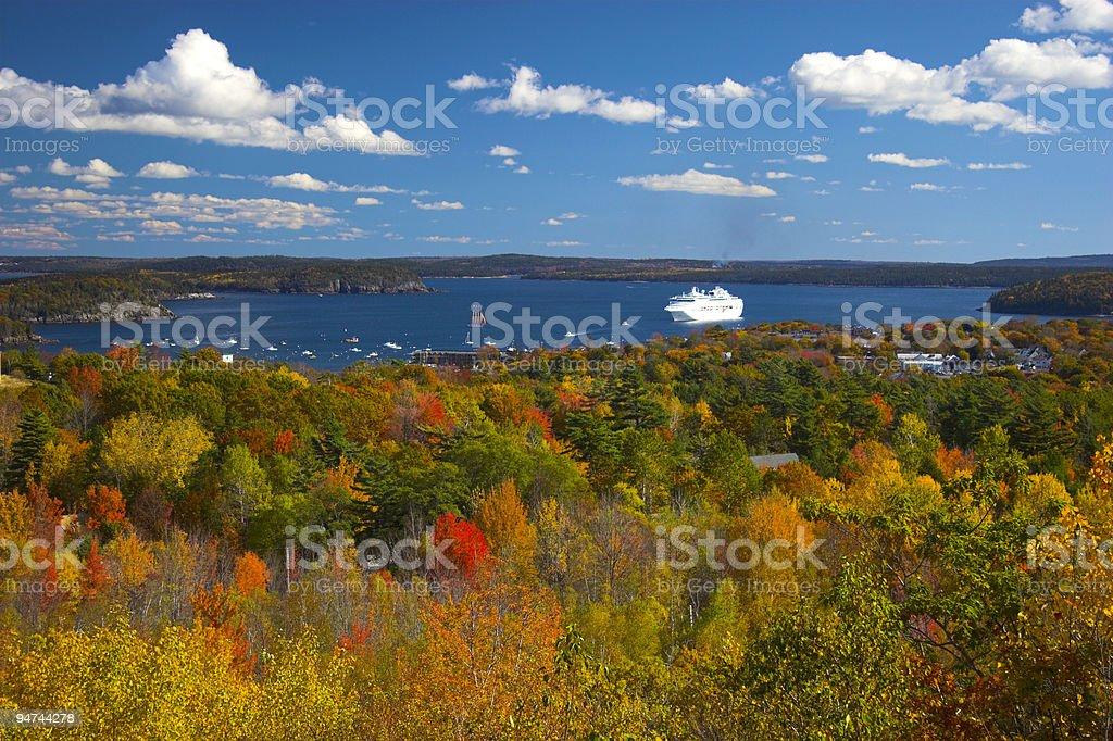 Fall foliage colors stock photo