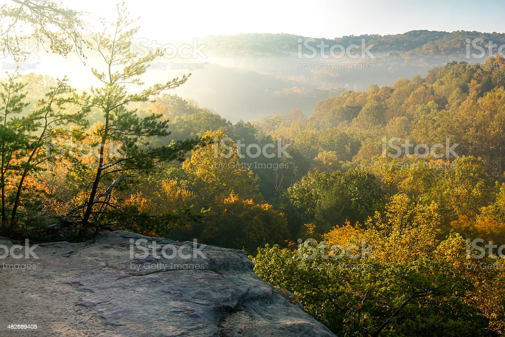 Fall Foliage in Hocking Hills stock photo