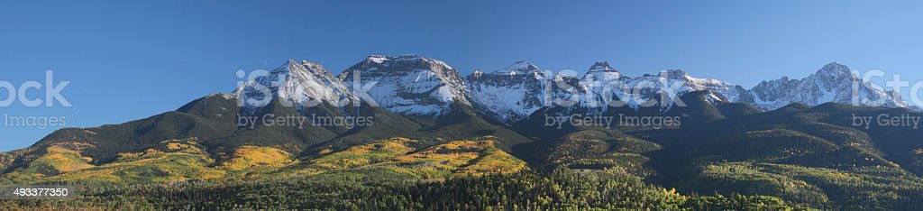 Fall Foliage Mount Sneffels Range stock photo
