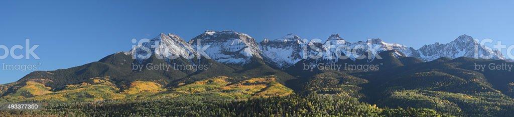 Fall Foliage Mount Sneffels Range stock photo