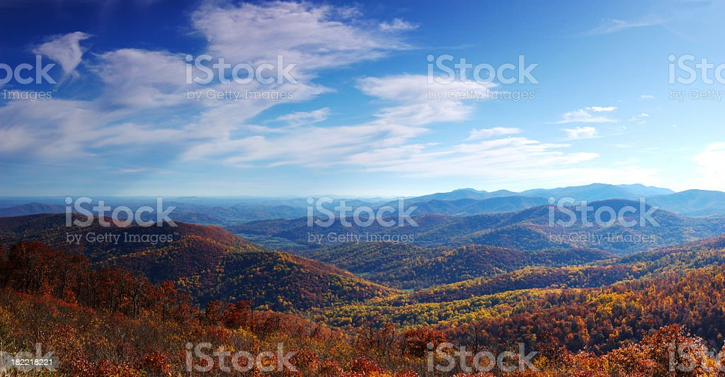 Fall foliage on the mountainside royalty-free stock photo