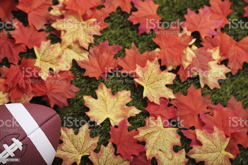Fall football royalty-free stock photo