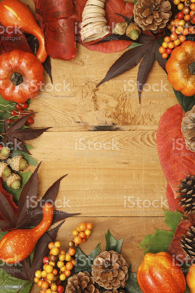 Fall frame border royalty-free stock photo