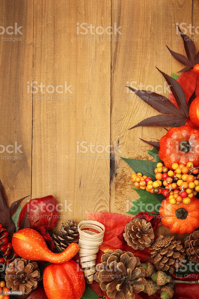 Fall frame corner royalty-free stock photo