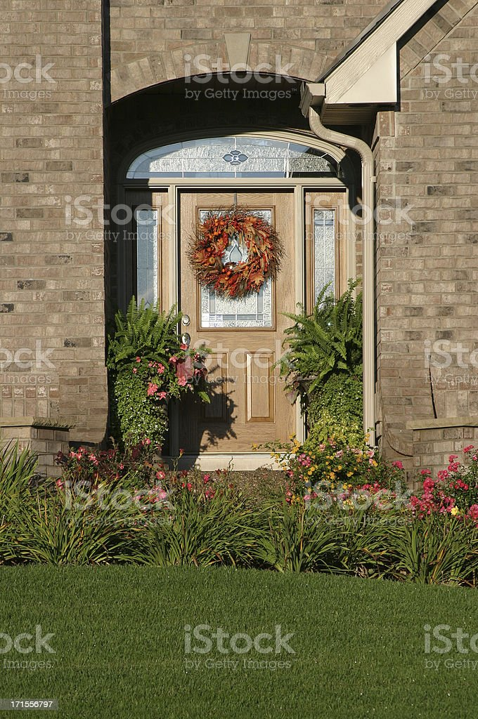 Fall Front Porch (3) royalty-free stock photo