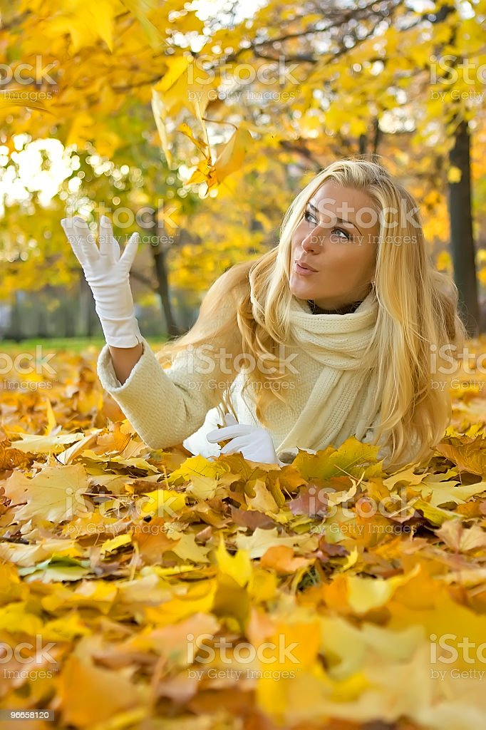Fall girl royalty-free stock photo