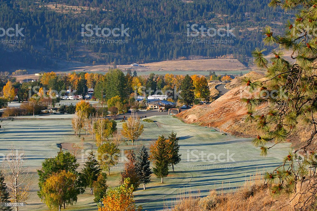 Fall golf course royalty-free stock photo