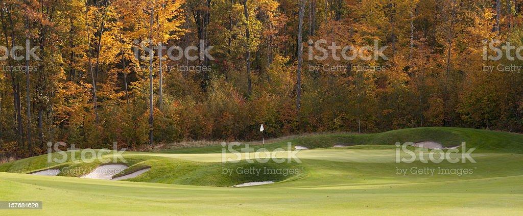 Fall Golf Panorama stock photo
