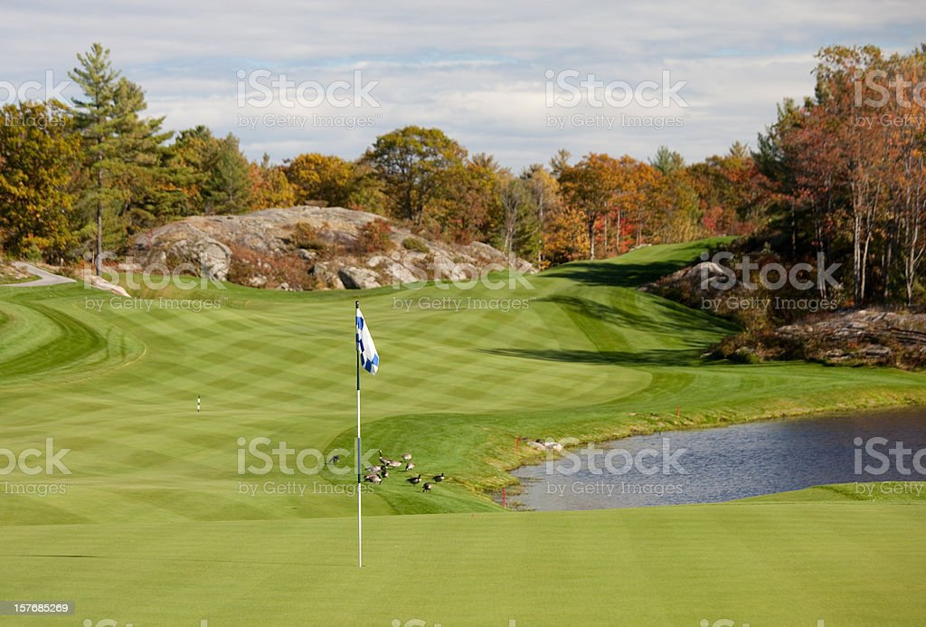 Fall Golf Scenic in Muskoka Region of Ontario stock photo