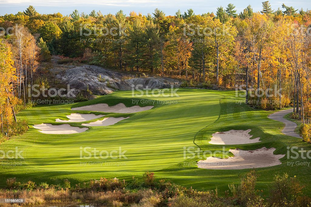 Fall Golf Scenic of the Muskoka Region in Ontario stock photo