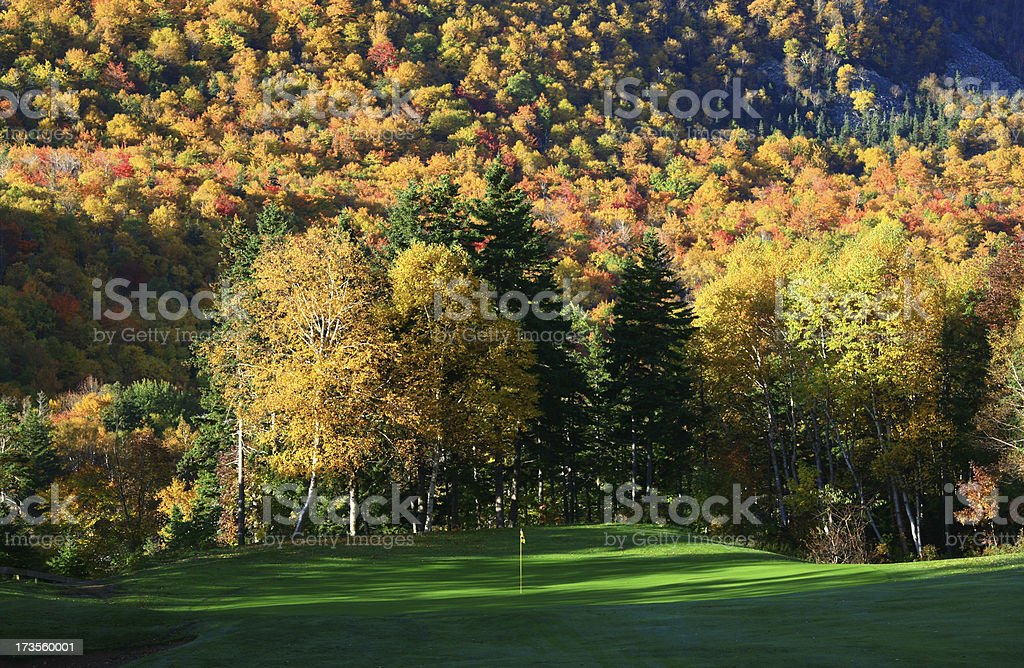 Fall Golf Scenic stock photo