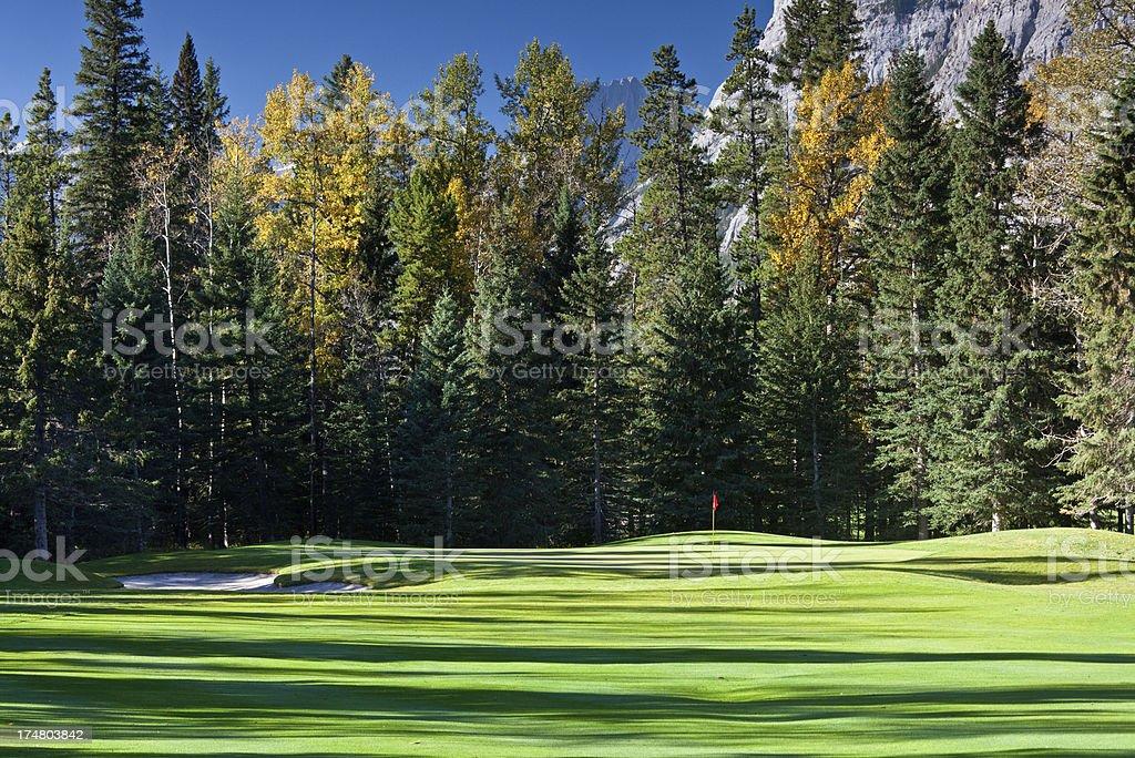 Fall Golf Scenic royalty-free stock photo