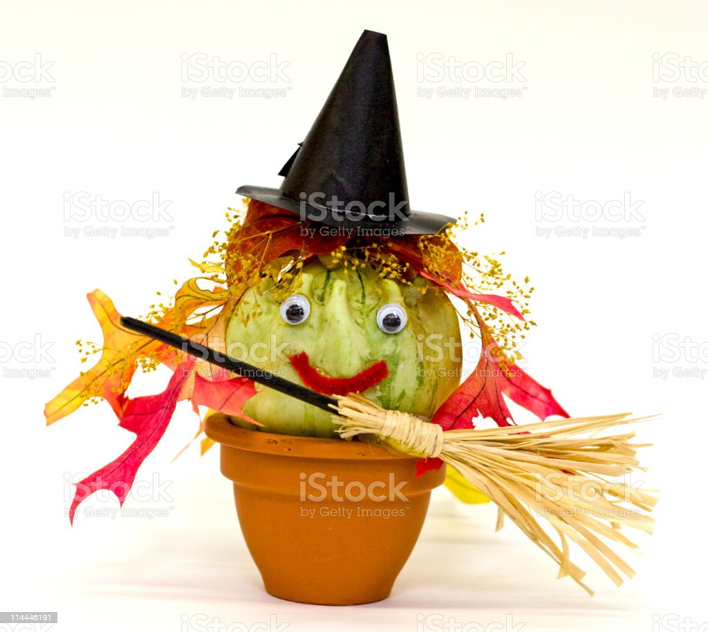 Fall Gourd Craft royalty-free stock photo
