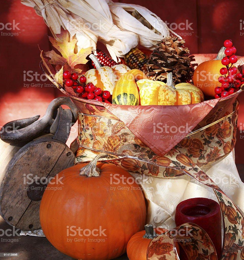 Fall Harvest Basket stock photo
