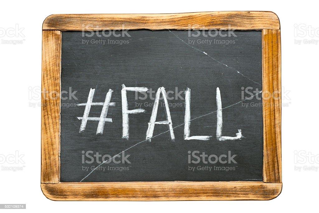 fall hashtag fr stock photo