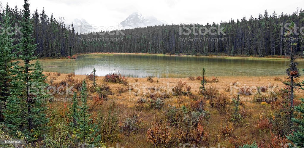 Fall High Mountain Colors and Lake royalty-free stock photo